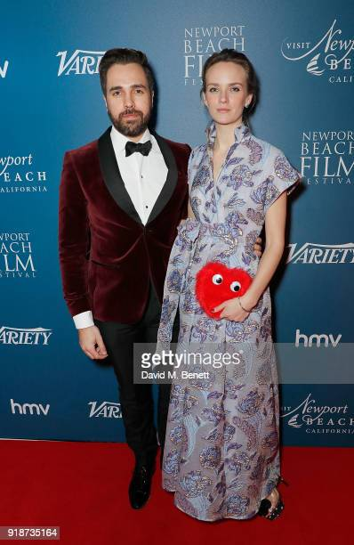 Charlotte Carroll and Diego Bivero Volpe attend the Newport Beach Film Festival UK Honours in association with Visit Newport Beach at The Rosewood...