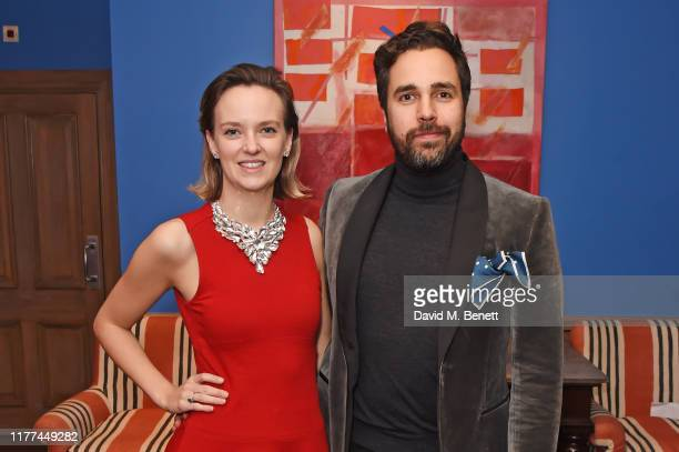 Charlotte Carroll and Diego BiveroVolpe attend a private screening of Actress written and directed by Daisy Lewis in aid of Action On Addiction at...