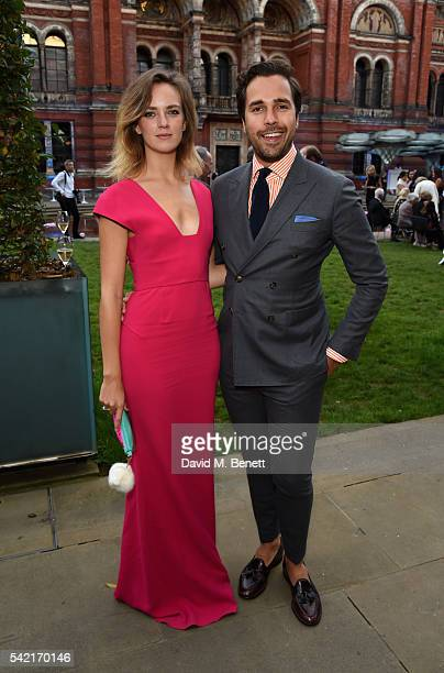 Charlotte Carroll and Diego BiveroVolpe attend the 2016 VA Summer Party In Partnership with Harrods at The VA on June 22 2016 in London England
