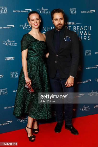Charlotte Carroll and Diego BiveroVolpe attend the Newport Beach Film Festival UK honours event at The Langham Hotel on February 07 2019 in London...