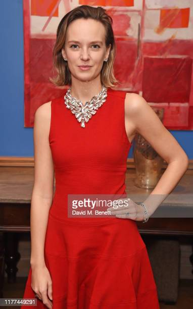 Charlotte Carroll attends a private screening of Actress written and directed by Daisy Lewis in aid of Action On Addiction at The Soho Hotel on...