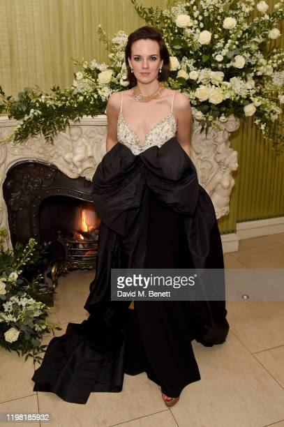 Charlotte Carroll attends the British Vogue and Tiffany Co Fashion and Film Party at Annabel's on February 2 2020 in London England