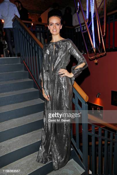 "Charlotte Carroll attends the press night performance of ""We Must Throw The Cows Down The Ravine"" at The Cervantes Theatre on July 18, 2019 in..."