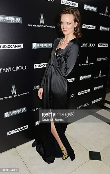 Charlotte Carroll attends The Weinstein Company Entertainment Film Distributor StudioCanal 2015 BAFTA After Party in partnership with Jimmy Choo GREY...