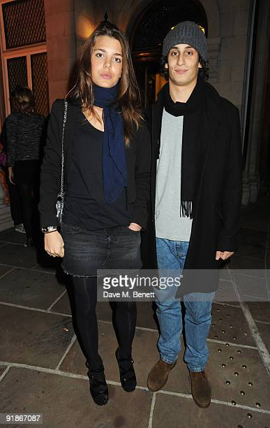 Charlotte Casigarhi and Alex Dellal attend the Damien Hirst VIP dinner on October 13 2009 in London England