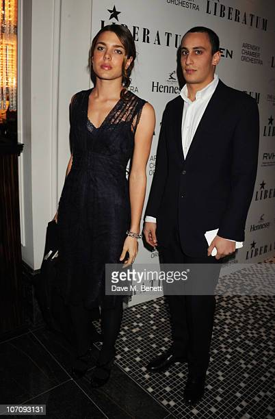 Charlotte Casigarhi and Alex Dellal attend the Liberatum dinner hosted by Ella Krasner and Pablo Ganguli in honour of Sir VS Naipaul at The Landau in...