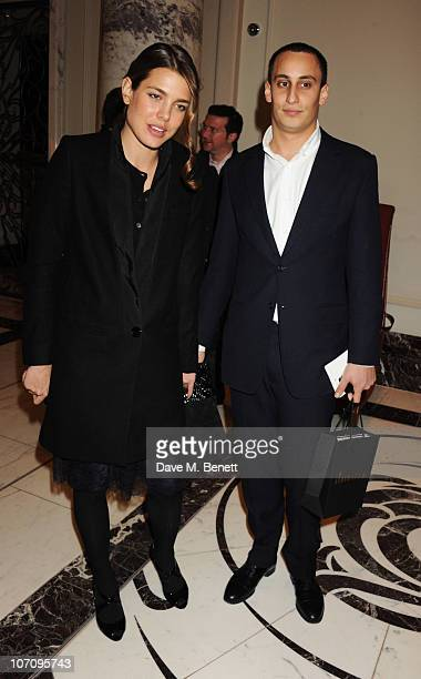 Charlotte Casigarhi and Alex Dellal attend the Liberatum dinner hosted by Ella Krasner in honour of Sir VS Naipaul at The Landau in The Langham Hotel...
