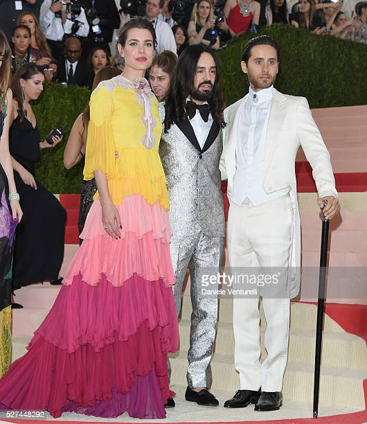 """Charlotte Casiraghi, Alessandro Michele and Jared Leto attend the """"Manus x Machina: Fashion In An Age Of Technology"""" Costume Institute Gala at..."""