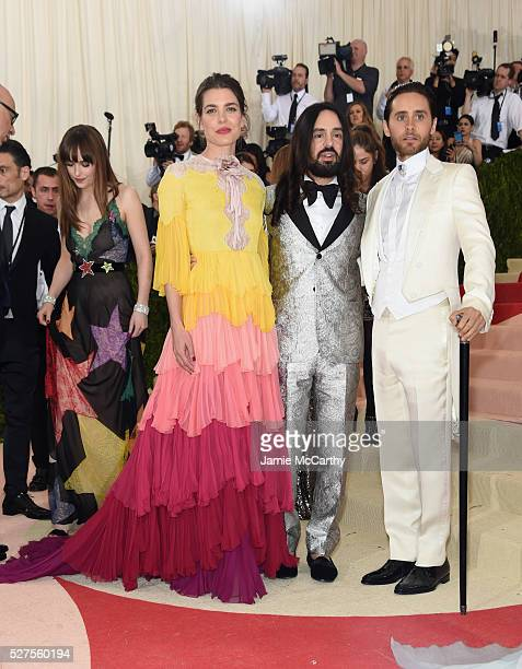 Charlotte Casiraghi Alessandro Michele and Jared Leto attends the 'Manus x Machina Fashion In An Age Of Technology' Costume Institute Gala at...