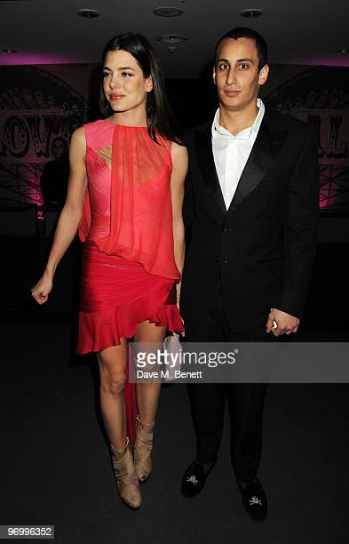 Charlotte Casiraghi and Alex Dellal arrive at the Love Ball London at the Roundhouse on February 23 2010 in London England
