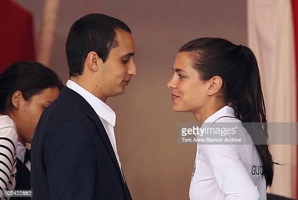 Charlotte Casiraghi and Alex Dellal attend the 15th Monte Carlo International Jumping on June 25 2010 in MonteCarlo Monaco