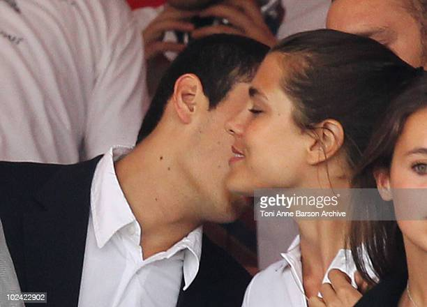 Charlotte Casiraghi and Alex Dellal attend the 15th Monte Carlo International Jumping on June 25 2010 in MonteCarlo Monaco