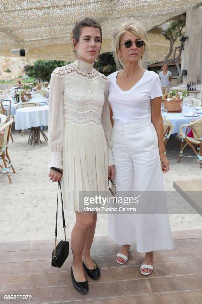 Charlotte Casiraghi and Anne-Florence Schmitt attend Kering Women in motion lunch with Madame Figaro on May 22, 2017 in Cannes, France.