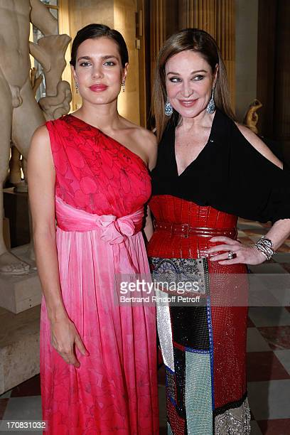 Charlotte Casiraghi and Becca Cason Thrash attend 'Liaisons Au Louvre III' Charity Gala Dinner Hosted by American International Friends of Le Louvre...
