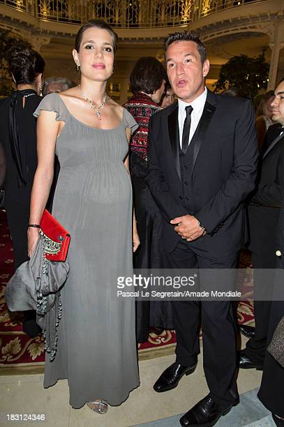 Charlotte Casiraghi and Benjamin Castaldi attend the AMADE MONDIALE 50th anniversary Gala Dinner at Hotel Hermitage on October 4 2013 in Monaco Monaco