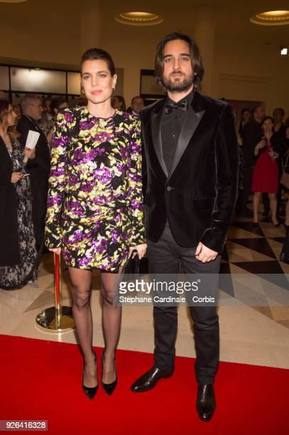 Charlotte Casiraghi and Dimitri Rassam at Salle Pleyel on March 2 2018 in Paris France