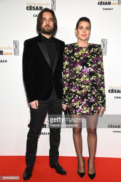 Charlotte Casiraghi and Dimitri Rassan arrive at the Cesar Film Awards 2018 at Salle Pleyel on March 2 2018 in Paris France
