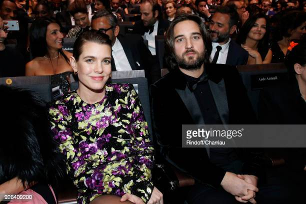 Charlotte Casiraghi and Dimitri Rassan attend the Cesar Film Awards 2018 at Salle Pleyel on March 2 2018 in Paris France