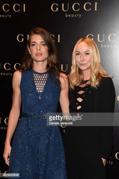 Charlotte Casiraghi and Frida Giannini attend Gucci Beauty Launch Event Hosted By Frida Giannini during the Milan Fashion Week Womenswear...