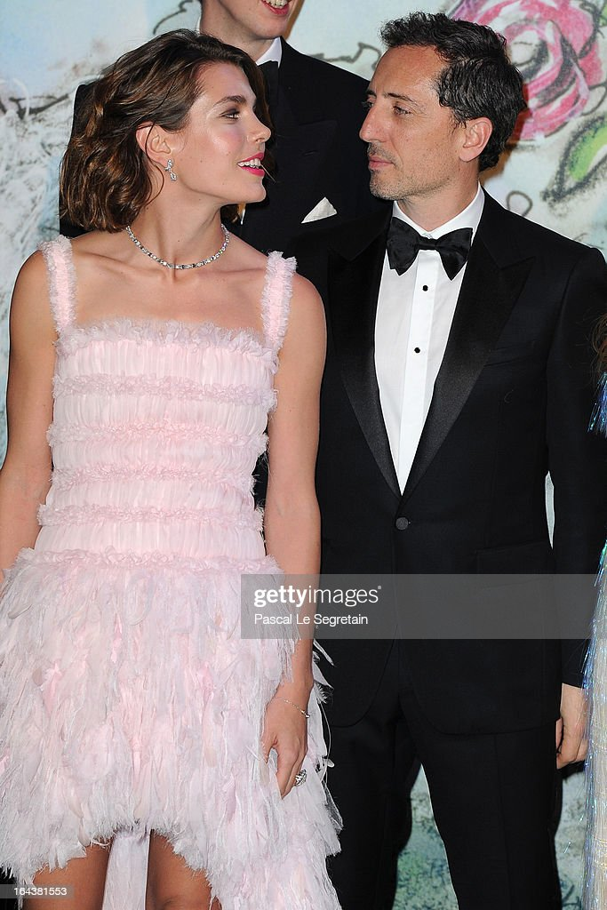 Charlotte Casiraghi and Gad Elmaleh attend the 'Bal De La Rose Du Rocher' in aid of the Fondation Princess Grace on the 150th Anniversary of the SBM at Sporting Monte-Carlo on March 23, 2013 in Monte-Carlo, Monaco.