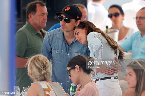 Charlotte Casiraghi and Gad Elmaleh attend the Longines Athina Onassis horse Show on June 5 2015 in SaintTropez France