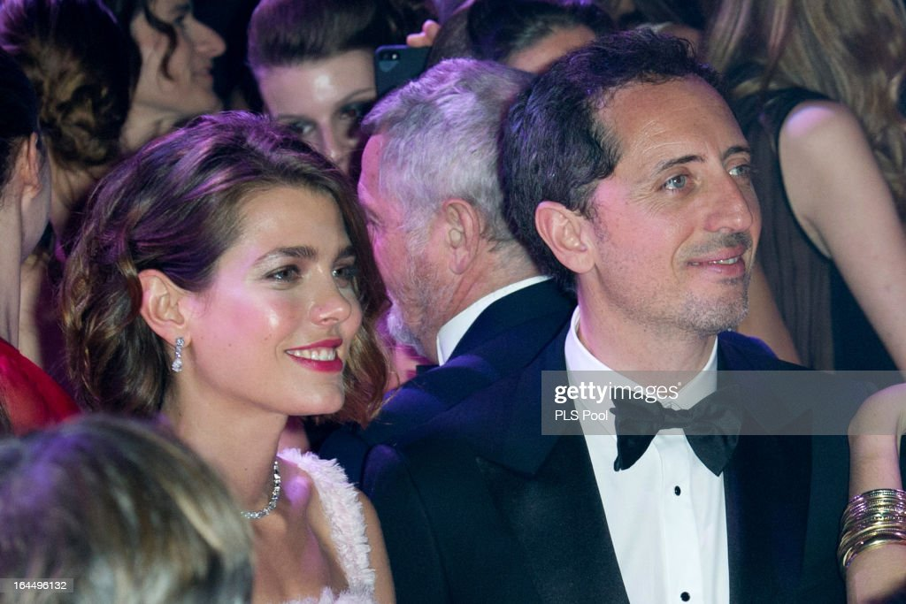 Charlotte Casiraghi and Gad Elmaleh dance during the 'Bal De La Rose Du Rocher' in aid of the Fondation Princess Grace on the 150th Anniversary of the SBM at Sporting Monte-Carlo on March 23, 2013 in Monte-Carlo, Monaco.