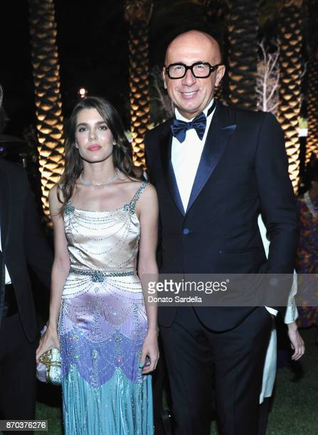 Charlotte Casiraghi and Gucci CEO Marco Bizzarri attend the 2017 LACMA Art Film Gala Honoring Mark Bradford and George Lucas presented by Gucci at...