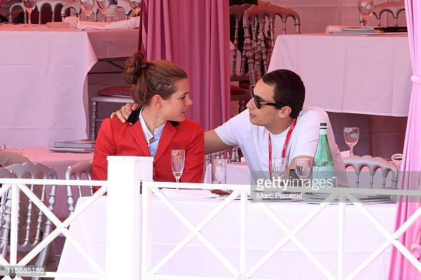 Charlotte Casiraghi and her boyfriend Alex Dellal are spotted during the '30th International Cannes Jumping' Global Champion Tour 2011 on June 11...