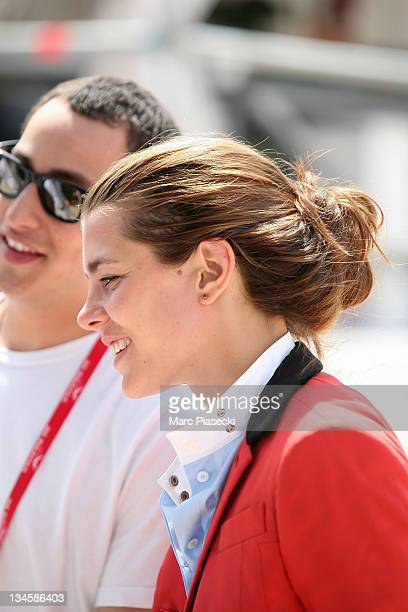 Charlotte Casiraghi and her boyfriend Alex Dellal are spotted during the '30th International Cannes Jumping' Global Champion Tour 2011 on June 10...