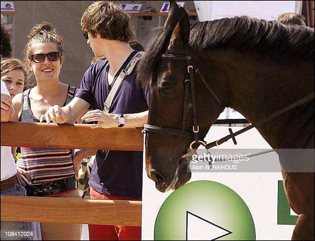 Charlotte Casiraghi and her boyfriend Felix in Monaco on June 23 2006