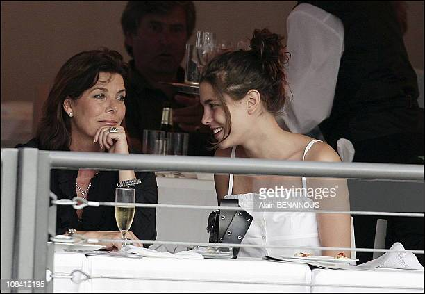 Charlotte Casiraghi and her mother princess Caroline of Hanover in Monaco on June 24 2006