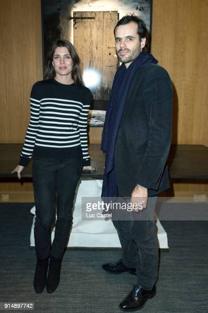Charlotte Casiraghi and Martin d'Orgeval attend the presentation of the Cahier N°3 of the philosophical meetings of Monaco on January 25 2018 in...