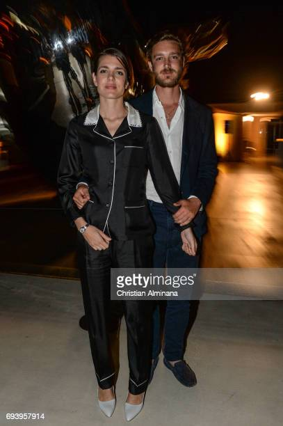 Charlotte Casiraghi and Pierre Casiraghi attend the 'Les Rencontres Philosophiques' at Musee Oceanographique on June 8 2017 in Monaco Monaco