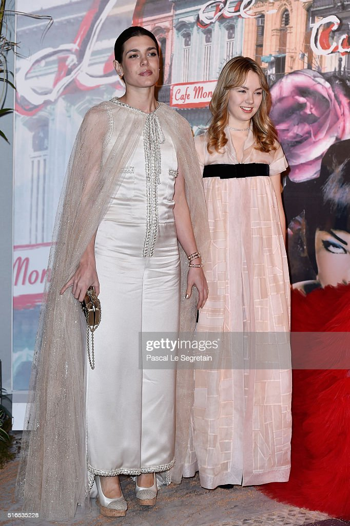 Charlotte Casiraghi and Princess Alexandra of Hanover attend The 62nd Rose Ball To Benefit The Princess Grace Foundation at Sporting Monte-Carlo on March 19, 2016 in Monte-Carlo, Monaco.