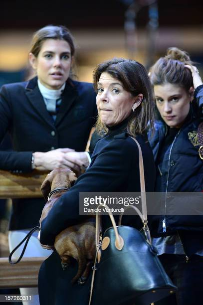 Charlotte Casiraghi and Princess Caroline of Hanover attend the Gucci Paris Masters 2012 at Paris Nord Villepinte on December 1 2012 in Paris France