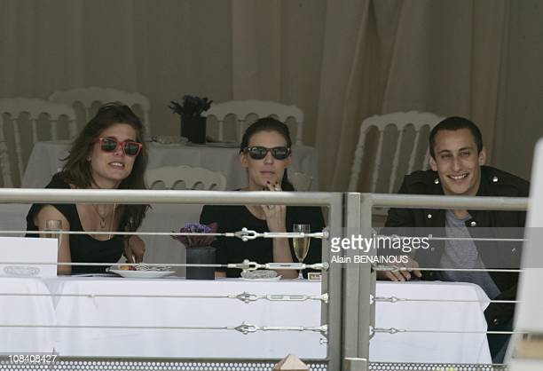 Charlotte Casiraghi and the daughter of Jean Christophe Maillot the choreograph of the Ballet of Monte Carlo and her boyfriend Alex Dellal in Monaco...