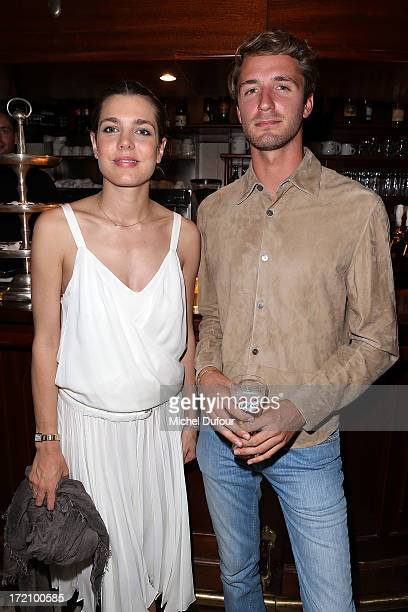 Charlotte Casiraghi and Theo Niarchos attend the Eugenie Niarchos First Jewelry Collection Launch Cocktail on July 1 2013 in Paris France