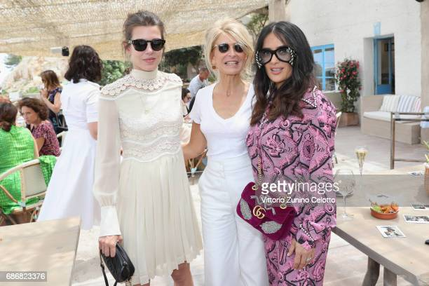 Charlotte Casiraghi AnneFlorence Schmitt Salma Hayek attend Kering Women in motion lunch with Madame Figaro on May 22 2017 in Cannes France