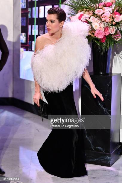 Charlotte Casiraghi arrives at the Rose Ball 2018 To Benefit The Princess Grace Foundation at Sporting MonteCarlo on March 24 2018 in MonteCarlo...