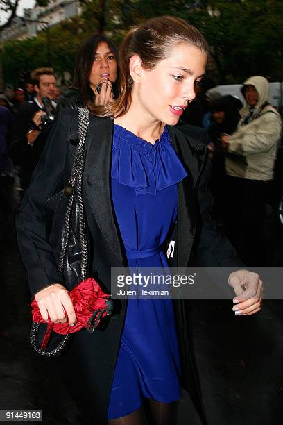 Charlotte Casiraghi arrives at the Stella McCartney Pret a Porter show as part of the Paris Womenswear Fashion Week Spring/Summer 2010 at Palais De...