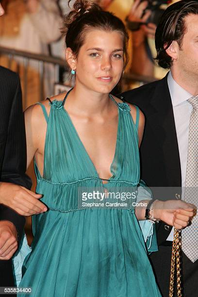 Charlotte Casiraghi arrives for Prince Albert II's key ceremony following his coronation mass held in the morning