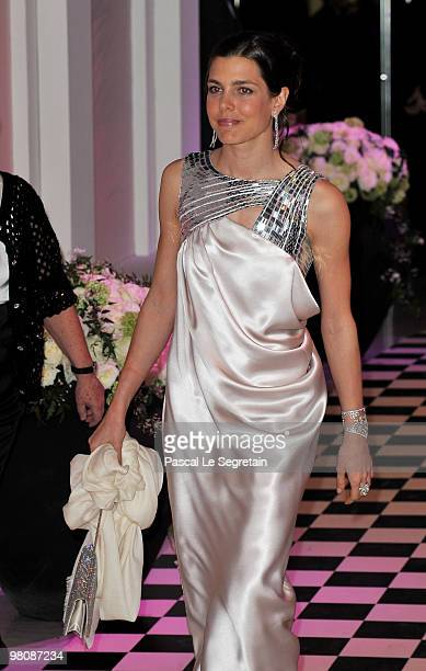 Charlotte Casiraghi arrives to attend the Monte Carlo Morocco Rose Ball 2010 held at the Sporting Monte Carlo on March 27 2010 in Monaco Monaco