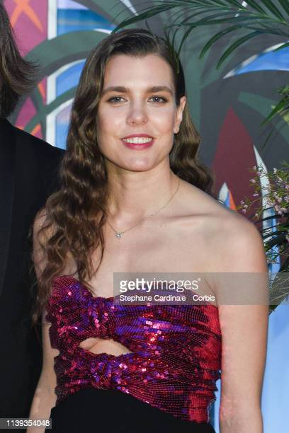 Charlotte Casiraghi attend the Rose Ball 2019 To Benefit The Princess Grace Foundation on March 30 2019 in Monaco Monaco