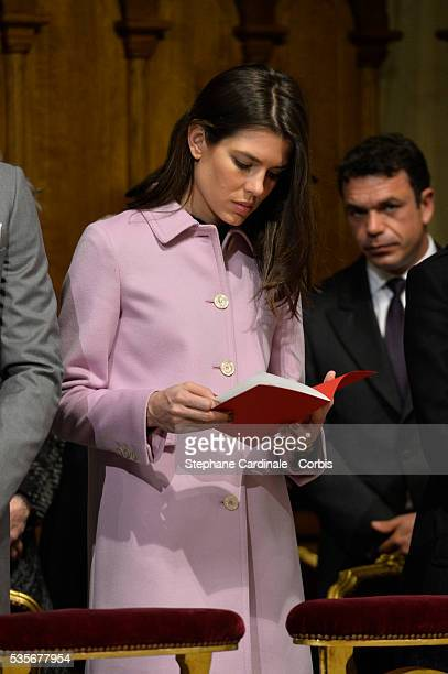 Charlotte Casiraghi attends a Mass during the Monaco National Day Celebrations on November 19 2015 in Monaco Monaco