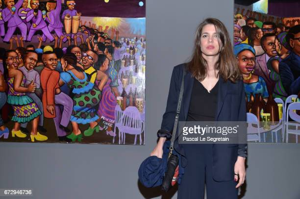 Charlotte Casiraghi attends 'Art Afrique Le Nouvel Atelier' Exhibition Opening at Fondation Louis Vuitton on April 25 2017 in Paris France