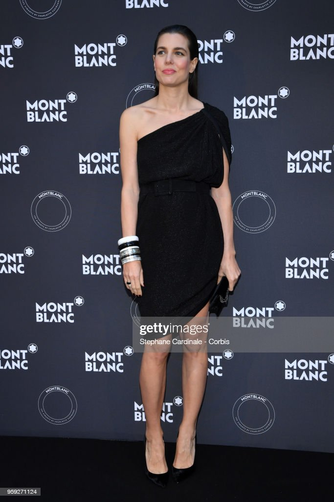 Charlotte Casiraghi attends as Montblanc launch new collection and dinner hosted by Charlotte Casiraghi during the 71st annual Cannes Film Festival at Villa la Favorite on May 16, 2018 in Cannes, France.