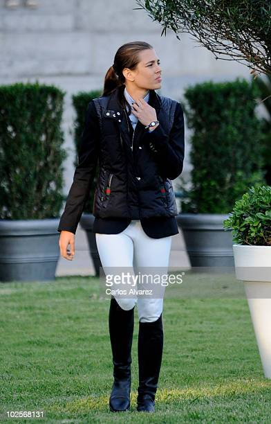 Charlotte Casiraghi attends Global Champion Tour 2010 day 1 on July 1 2010 in Estoril Portugal