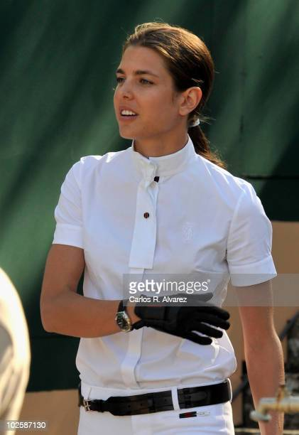 Charlotte Casiraghi attends Global Champion Tour Jumping 2010 day 2 on July 2 2010 in Estoril Portugal