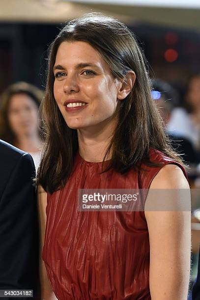 Charlotte Casiraghi attends Longines Global Champions Tour of Monaco on June 24 2016 in Monaco Monaco