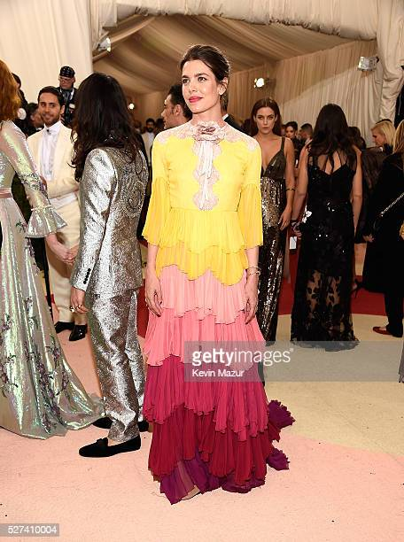 Charlotte Casiraghi attends 'Manus x Machina Fashion In An Age Of Technology' Costume Institute Gala at Metropolitan Museum of Art on May 2 2016 in...